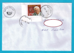 Lithuania Cover Sent From Post Office Natkiskiai  To Siauliai 2013 - Lithuania