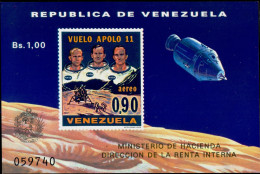 SPACE-APOLLO XI-VENEZUELA-IMPERF MS-LIMITED ISSUE-MNH-MS-634-11 - Raumfahrt