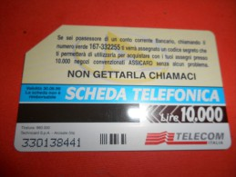 B622 Scheda Telefonica Assicard - Tarjetas Telefónicas