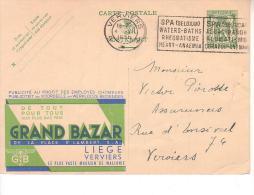 Publibel Oblitéré 198 Grand Bazar - Stamped Stationery
