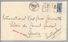 Kanada Canada 1941-11-28 Vancouver Zensurbrief Nach Genève CH - 1937-1952 Règne De George VI