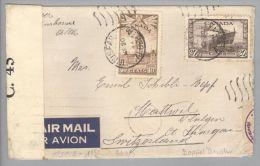 Kanada Canada 1944-05-20 Ininisfail Alberta Doppelzensur Brief Nach Mattwil TG CH - 1937-1952 Règne De George VI