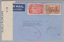 Kanada Canada 1941-03-24 Montreal O.A.T. Zensur-Luftpostbrief Nach Beinwil A.S. Schweiz - 1937-1952 Règne De George VI