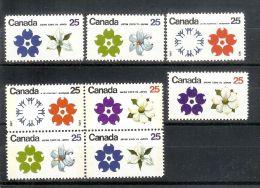 Kanada Canada 1970 Mi#551-4x+y ** Postfrisch - 1851-1902 Règne De Victoria
