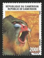 Cameroun Cameroon 1998 Drill Ape Monkey Yv. 890 Mi 1230 Neuf Mint - Apen
