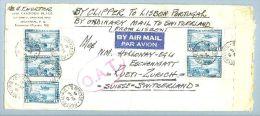 Kanada Canada 1941-04-24 Montreal O.A.T. Zensur-Luftpostbrief Nach Rüti CH - 1937-1952 Règne De George VI