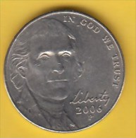 USA - 2006 Circulating 5¢ Coin  (#2006-05-01) - Federal Issues