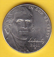 USA - 2011 Circulating 5¢ Coin  (#2011-05-01) - Federal Issues