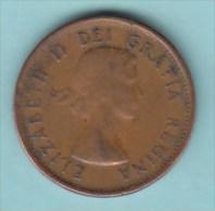 CANADA - 1962 Circulating 1¢ Coin (#1962-01-01) - Canada