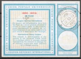 INDE / INDIA International Reply Coupon Reponse Antwortschein IRC IAS Type XIX  1.50 / 98 PAISE  O UJJAIN 19.10.72 - Ganzsachen