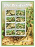 Solomon Isl,  Scott 2014 # 1038a,  Issued 2005,  2 M/S Of 8,  MNH,  Cat $ 11.50,  Reptiles, WWF - Solomon Islands (1978-...)