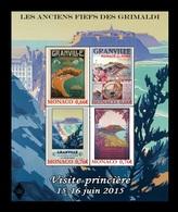 Monaco 2015 Mih. 3238/41 (Bl.113) Commune Granville MNH ** - Nuevos