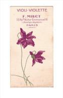 Carte Parfumée VIOLI VIOLETTE De F Millot (PPP243) - Cartes Parfumées