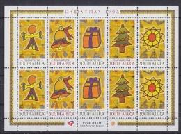 South Africa 1998 Christmas 5v In Sheetlet ** Mnh (22810) - Blokken & Velletjes