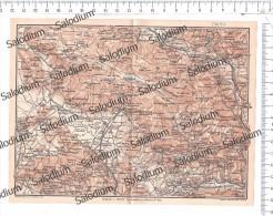 CAPRIATI LETINO GALLO PIEDIMONTE D'ALIFE ALIFE PIETRAMELARA BOIANO SEPINO CERRETO Mappa Cartina Originale D´epoca - Mappe