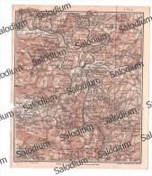 BENEVENTO VITULANO PESCOLAMAZZA PIETRELCINA PADULI APICE BONEA MONTEMILETTO  Mappa Cartina Originale D´epoca - Mappe