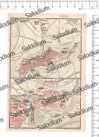 POTENZA COSENZA - Mappa Cartina Originale D´epoca - Mappe