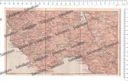 Prov SALERNO CAMEROTA PISCIOTTA VIBONATI MARATEA MONTESANO SANZA CASTELNUOVO GIOI - Mappa Cartina Originale D´epoca - Mappe