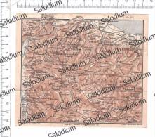 SPEZZANO CORIGLIANO ROSSANO S. DEMETRIO BISIGNANO ACRI LONGOBUSCO - Mappa Cartina Originale D´epoca - Mappe