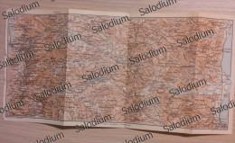 LA SILA  - Mappa Cartina Originale D´epoca - Mappe
