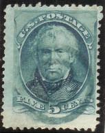 USA Ca. 1870+ Mi # 48 II Sc179 Blauer Ring-O - Oblitérés