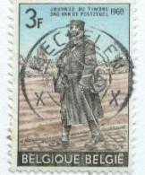 (12804).Belgique 1968 Y&t N°1445. Journée Du Timbre,Vaguemestre De La Guerre 1914-1918. - Oblitérés