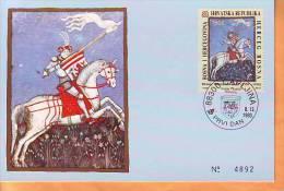 BiH HP Mostar 1993 Y Max C. Historical Personalities Hrvoje Vukcic Hrvatinic Mi No 10 Postmark Capljina 08.12. - Bosnie-Herzegovine