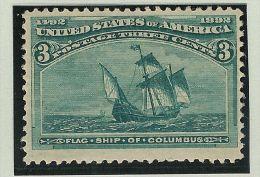 USA 1893 3Cent Mi# 75 ** Postfrisch Segelschiff - 1847-99 General Issues
