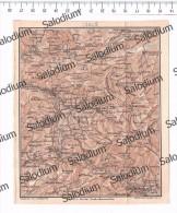 CASTROVILLARI MORMANNO ROTONDA CASTELLUCCIO S. SEVERINO LATRONICO CHIAROMONTE  Mappa Cartina Originale D´epoca - Mappe