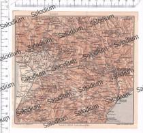 SQUILLACE BORGIA FILADELFIA CORTALE CATANZARO TIRIOLO FEROLETO SORBO Mappa Cartina Originale D´epoca - Mappe