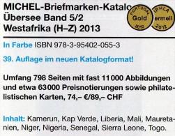 MICHEL West-Afrika H-Z Band 5 II Catalogue 2013 New 74€ Kamerun Liberia Mali Senegal Mauretanien Sierra Leone Togo Verde - Phonecards