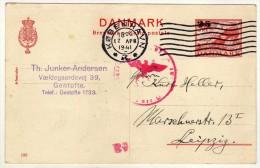 Denmark Stamped Stationery ( Precancel ) 17 Apr. 1941.Censored. Cobenhavn Via Leipzig - 1913-47 (Christian X)
