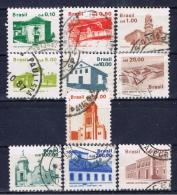 BR+ Brasilien 1986 1987 1988 Mi 2178-79 2196 2198 2212-13 2228 2240 2249 2274 Bauwerke - Brasilien