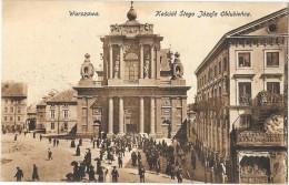 WARSZAWA VARSOVIE (Pologne) Place église Animation - Pologne