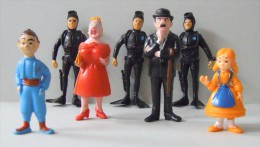 LOT De 7 Figurines TINTIN  ESSO 1973 - Tintin
