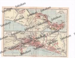 FORMIA GAETA SALERNO - Mappa Cartina Originale D´epoca - Mappe
