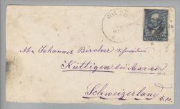 USA 1899-07-30 Wilson Brief Nach Küttigen AG Schweiz Mit 5 Cents - Oblitérés