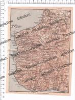 PALMI SEMINARA MELICUCCA BAGNARA SCILLA  OPPIDO REGGIO CALABRIA MOTTA BOVA MARINA - Mappa Cartina Originale D´epoca - Mappe