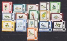 Gibraltar 1977 Fauna & Flora / Definitives 16v ** Mnh (22818B) - Gibraltar