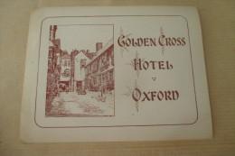 Etiquette D'hotel  Art Deco Pub GOLDEN CROSS OXFORD - Etiquettes D'hotels