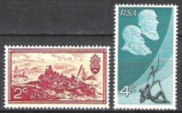 Südafrika South Africa RSA 1971 Geschichte Unabhängigkeit Republik Kunst Gemälde Baines Politiker Krüger, Mi. 405-6 ** - Südafrika (1961-...)