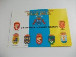 QLS CARTOLINA RADIO SUGAR DELTA  34° DIVISION CANARY ISLAND STEMMI - Radio Amatoriale