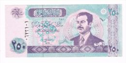 ***  IRAK 250 DINARS  SADDAM HOESSEIN  2002 NIEUW - Iraq