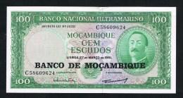 ***  MOZAMBIQUE 100 ESCUDOS 1961 - Moçambique