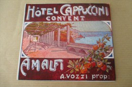 Etiquette D'hotel  Art Deco Pub HOTEL CAPPUCCINI CONVENT AMALFI - Etiquettes D'hotels