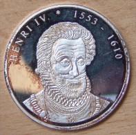 Médaille ARGENT Henri IV De La Série Des Rois De France - Professionnels / De Société