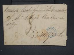 """FRANCE- Marque D 'entrée En Rouge """" Espagne Perpignan 1 """" En 1858 Sur Lettre ( Avec Texte) De Barcelone - Lot P7525 - Poststempel (Briefe)"""