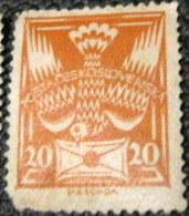 Czechoslovakia 1920 Dove And Envelope 20h - Used - Cecoslovacchia