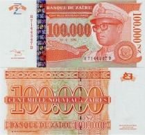 ZAIRE      100,000 Nouveaux Zaïres       P-77       30.6.1996       UNC  [ 100000 ] - Zaire