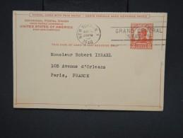 ETATS UNIS - Entier Postal Avec Réponse De New York Pour Paris En 1946 - à Voir - Lot P7540 - 1941-60